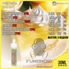 Premium E-liquids straight from the manufacturer Diy Vape Juice, Vape Diy, Vape Facts, E Juice Recipe, Diy E Liquid, Clone Recipe, Cancer Research Uk, Vape Smoke, Lemon Meringue Pie