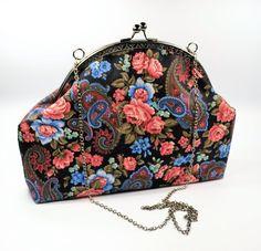 Handtasche mit Clipverschluss Bügeltasche von creatissimo - besondere Dinge für besondere Menschen auf DaWanda.com