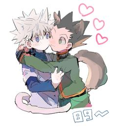 Gon Freecs and Killua Zoldyck Hunter x Hunter たらこのこ on Pixiv Gon Anime, Otaku Anime, Anime Guys, Anime Art, Hunter X Hunter, Hunter Anime, Gon Killua, Hisoka, Hxh Characters