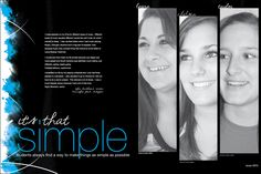 mag spread w photo slices Teaching Yearbook, Yearbook Class, Yearbook Pages, Yearbook Spreads, Yearbook Layouts, Yearbook Design, Yearbook Ideas, Color Symbolism, Graphic Design Inspiration