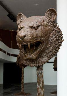 "Ai WeiWei ""Circle of Animals/Zodiac Heads"" Exhibition @ Pulitzer Fountain Recap Chinese Astrology, Chinese Zodiac, Chinese Art, Ai Weiwei, Sculpture Projects, Sculpture Art, Thing 1, Animal Heads, Medieval Art"