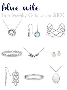 Nothing like a little sparkle in my holiday =) Fine Jewelry Gifts Under $100 plus Blue Nile Discount Code
