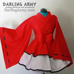 Inuyasha Cosplay Kimono Dress Wa Lolita Skirt Accessory | Darling Army