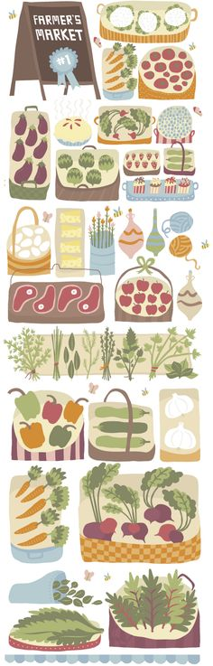 """Studio SSS    """"There's nothing better than a summertime farmer's market!"""""""
