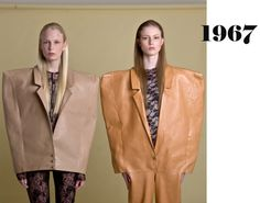 """This editorial is called """"Decades"""" and showcases the collection of Spanish fashion designers from Barcelona Oihana Garaluce and Georgiela Jose shot by Anabel Luna. Fashion Silhouette, Spanish Fashion, Well Dressed, Editorial, Leather Jacket, Blazer, My Style, Pattern, How To Wear"""