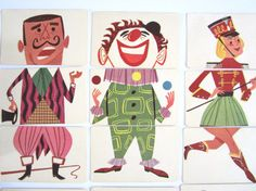 Vintage Mixies Card Game 1950s COMPLETE with elusive clown cards!