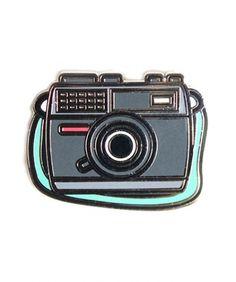 Enamel Camera Pin : Greenwich Letterpress