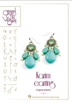 Tutorial perline Karim orecchino...Istruzioni di beadsbyvezsuzsi