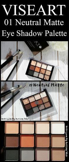 Viseart Neutral Matte Eye Shadow Palette | My Notes and Swatches