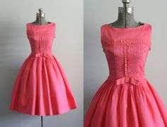 Vintage 50s Dress / 1950s Cotton Dress / by TuesdayRoseVintage, $238.00