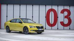 Škoda Superb Sportline (dragon skin) Dragon Skin, Volkswagen Group, Cars, Yellow, Life, Autos, Car, Automobile, Trucks