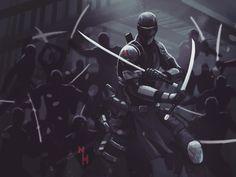 Arte Ninja, Ninja Art, Snake Eyes Gi Joe, Eagle Wallpaper, Old School Cartoons, Cobra Commander, Storm Shadow, Shadow Warrior, Marvel Comics Art