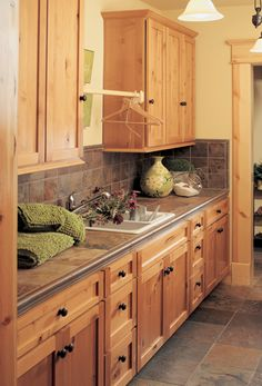 Shaker Solid #3045 | Rustic Alder. Stain CabinetsAge CabinetsKitchen ...