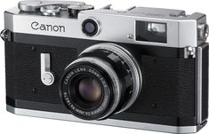 Canon P 1959 - the last iteration of the second generation rangefinders, an evolution from the Canon VT of 1956.  It has a more conventional winding lever on the top of the camera.   Uses Leica M39 mount lenses.