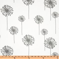 Curtain possibility: Wide Premier Prints Dandelion Twill White/Storm Fabric By The Yard Grey Pillow Covers, Grey Pillows, Decorative Pillow Covers, Toss Pillows, Duvet Covers, White Valance, Grey Curtains, Shower Curtains, Chevron Valance