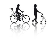 Påhoj is a bike seat and stroller in one by Swedish designer Lycke von Schantz