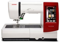 """Memory Craft 9900 Sewing & Embroidery Machine. Linear Motion Embroidery System sewing speed: 400 - 800 spm. Editing functions: Resize, combine, duplicate, flip, arc, group, drag & drop, zoom, trace, user color choice. Maximum embroidery size: 6.7"""" x 7.9"""" (170mm x 200mm). Full intensity lighting system with 5 white LED lamps in 3 locations. LCD Full color touchscreen and Memory capability: up to 3MB of storage."""