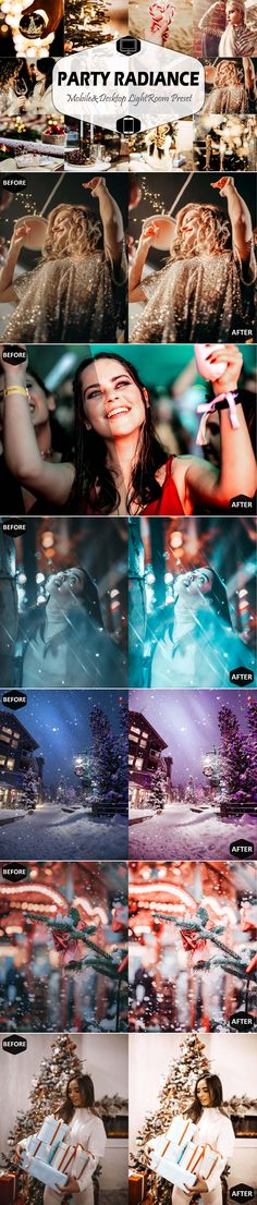 Party Radiance & Desktop Lightroom Presets This set includes----- Unique lightroom mobile presets Best Photoshop Actions, Iphone App, Modern Christmas, Night Photography, Personal Photo, Lightroom Presets, Winter Night Outfit, Filters, Desktop