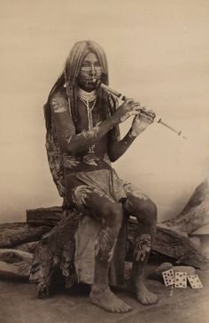 Yuma Indian with Body Paint - American Indian's History: California's Native American Yuma Indians