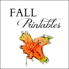Variety of free printables perfect for fall! From www.onsuttonplace.com.