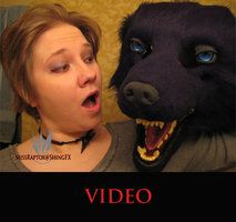 How to wear one of my canine masks by MissRaptor