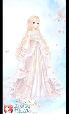 Anime Angel Girl, Anime Girl Pink, Pretty Anime Girl, Girls Anime, Kawaii Anime Girl, Anime Art Girl, Anime Kimono, Anime Dress, Anime Elf
