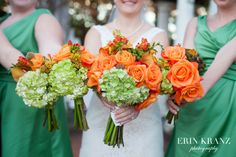 Beautiful wedding bouquets, and fun colors!  - Erin Kranz Photography - Charlotte wedding photographer