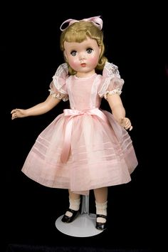A Beautiful Madame Alexander Mint Maggie Doll ~ Possible Kathy Doll in Party Dress