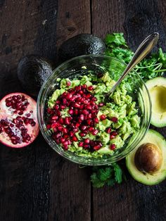 pommegranate + avocado