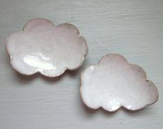 platos de cerámica de la nube por JDWolfePottery en Etsy
