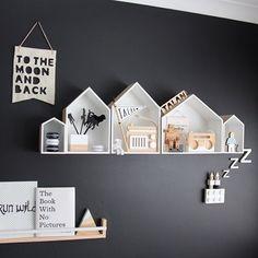 house shelves + banners