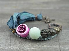 FEB ABS 'Hold Close Your Spiritual Heart' Bracelet by Ditsy Blue