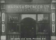 Marks and Spencer North End Road 1914 Vintage London, Old London, Old Photos, Vintage Photos, Childhood Memories, School Memories, London History, Fulham, London Photos