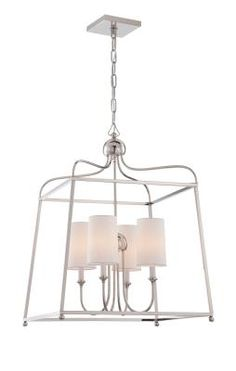 Polished Nickel - Mid. Chandeliers Candle Crystorama   LIGHT`N UP!