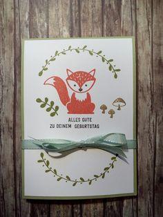Popup Panel Card mit Foxy Friends und Bannerweise Grüße in Olivgrün Flüsterweiß Calypso Espresso und Wildleder