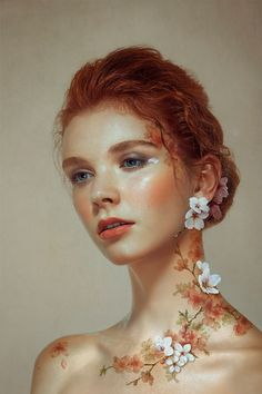 Wearing cherry blossoms on Behance