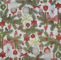 3011 Servilleta decorada Navidad