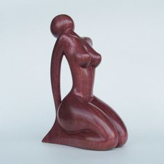 Nude Woman wood sculpture MEDITATION by JakobWSculpture on Etsy