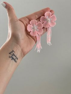Color Rosa, Diy, Slippers, Fashion, Flower, Santiago, Stud Earrings, Hand Made, Accessories