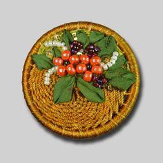 Flower Basket Brooch Kit – JC Embroidery