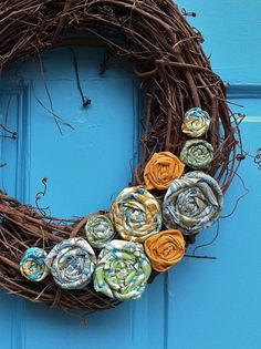 Inspire Bohemia: Fall and Thanksgiving Wreaths Part II