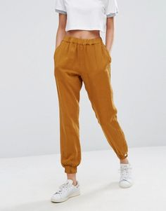 ASOS | ASOS Washed Track Pant with Poppers