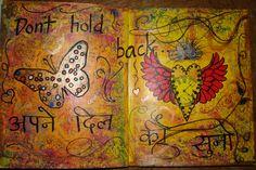 My Art Journal - Don't hold back....February for aRtful Journeys group