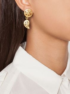 ornate clip-on earrings