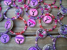 Girls Cheerleading Cheerleader Cheer Team Gift Birthday Party Favor Bracelet 6pk