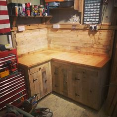 My New Workshop Cabinets Built from Pallet Wood