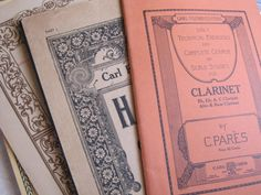 Antique  5 Books of Lovely Sheet Music by ShaneLilyRain on Etsy, $10.00