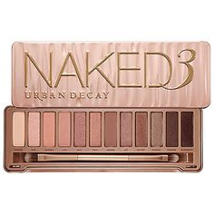 <a>URBAN DECAY NAKED 3</a>  This warm hued palette filled with browns, champagne and pink shadows looks divine on brown skin. It's soft enough to wear in the day with just enough dark shadows to transition your look to something with a tad bit more drama.