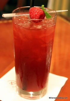 Pimm's Punch cocktail in Walt Disney World -- Pimm's, Hendrick's, Lemonade, and Wild Strawberry