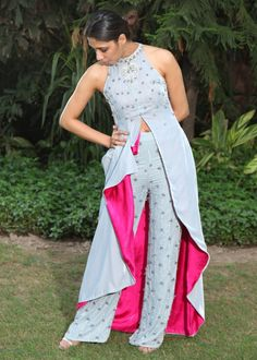 Ice Blue and PinkYou can find Western dresses and more on our website.Ice Blue and Pink Designer Party Wear Dresses, Kurti Designs Party Wear, Lehenga Designs, Dress Designs, Indian Gowns Dresses, Indian Fashion Dresses, Fashion Outfits, Indian Wedding Outfits, Indian Outfits